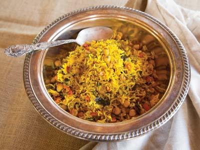 Middle Eastern Roasted Vegetable Rice