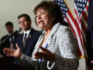 Rep. Nita Lowey speaking after a House Democratic Caucus meeting on Capitol Hill, Jan. 15, 2013.