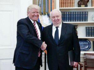 Trump and Kislyak last week