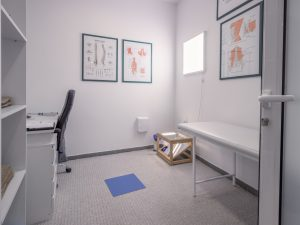 Physiotherapist office, indoors room, no people