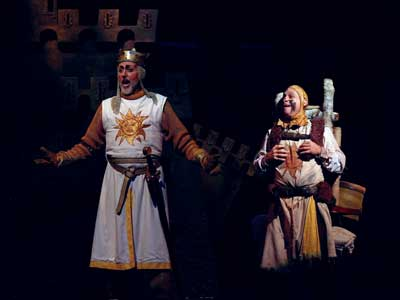 """Big Show in a Little Theater  """"Spamalot"""" Rides in (Horseless, of Course) to the Cygnet"""